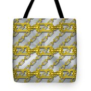 Iron Chains With Brushed Metal Texture Tote Bag