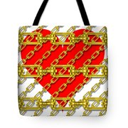 Iron Chains With Heart Texture Tote Bag