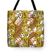 Iron Chains With Playing Cards Seamless Texture Tote Bag
