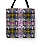 Iron Chains With Tartan Seamless Texture Tote Bag