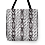 Iron Chains With White Background Seamless Texture Tote Bag