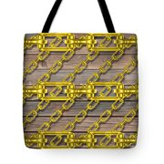 Iron Chains With Wood Texture Tote Bag
