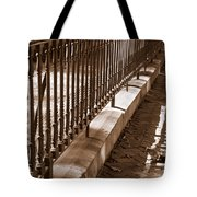 Iron Fence With Shadows Tote Bag