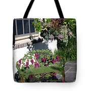 Iron Garden Bench Tote Bag