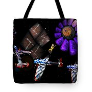 Iron In The Sky Tote Bag