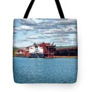 Iron Ore Loading Onto Laker Tote Bag