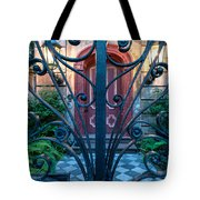 Iron Scroll Entrance Tote Bag