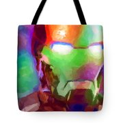 Ironman Abstract Digital Paint 1 Tote Bag