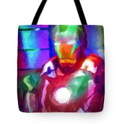 Ironman Abstract Digital Paint 2 Tote Bag