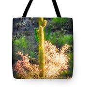 Ironwood Saguaro Dance Vignette Tote Bag
