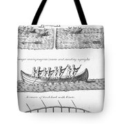 Iroquois Canoes Tote Bag