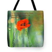 Isaiah 26 3 Of Beverly Guilliams Tote Bag