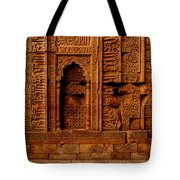 Temple Stone Wall Tote Bag
