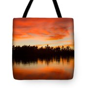 Island At Sunset Tote Bag