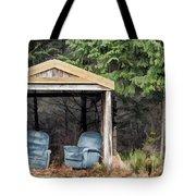 Island Bus Stop - 365-141 Tote Bag