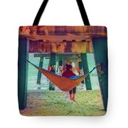 Island Dreams Under The Pier Watercolors Painting Tote Bag