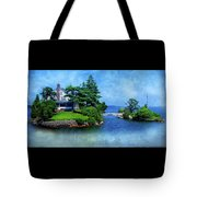 Island Home With Bridge - My Happy Place Tote Bag