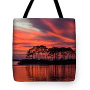 Island In The Fire Tote Bag