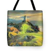 Island Lighthouse Tote Bag