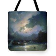 Island Of Patmos 1854 116h190 Ivan Konstantinovich Aivazovsky Tote Bag