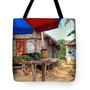 Island Street Scene Tote Bag