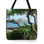 Island Through The Trees Tote Bag