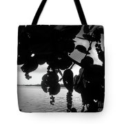 Island - View -  Black And White Tote Bag