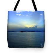Islands In The Sunrise Tropical Paradise Tote Bag