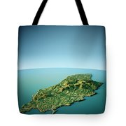 Isle Of Man 3d View South-north Natural Color Tote Bag