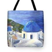 Isle Of Santorini Thiara  In Greece Tote Bag