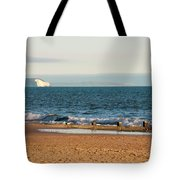 Isle Of Wight As Seen From Bournemouth Beach Tote Bag