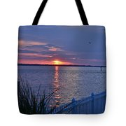 Isle Of Wight Bay Sunset Tote Bag