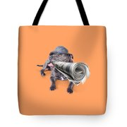 Isolated Newspaper Dog Carrying Latest News Tote Bag