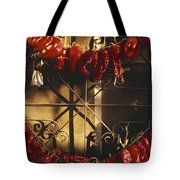Israel Red Peppers Drying In The Sun Tote Bag