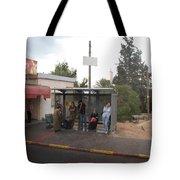 Israeli Bus Stop Tote Bag