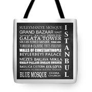Istanbul Famous Landmarks Tote Bag