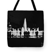 Istanbul Fountain Lights Tote Bag