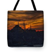 Istanbul Sunset - A Call To Prayer Tote Bag by David Smith