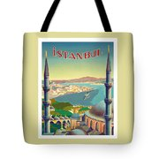 Istanbul Turkey 1939 World Travel Poster Tote Bag