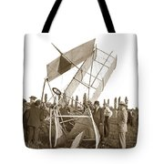 It Was A Good Landing The Pilot Walked Away  Twin Wing Aircraft  Circa 1909 Tote Bag