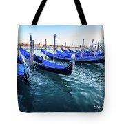 Italian Blue Tote Bag