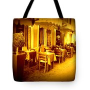 Italian Cafe In Golden Sepia Tote Bag