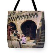 Italian Courtyard Henryk Semiradsky Tote Bag