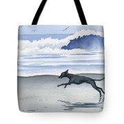 Italian Greyhound At The Beach Tote Bag