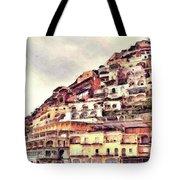 Italian Hillside Village Tote Bag