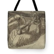 Italian Peasants With Wine Flasks Tote Bag