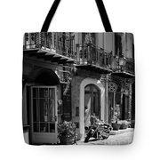 Italian Street In Black And White Tote Bag by Stefano Senise