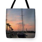 Italian Sunset And Sailboat Tote Bag