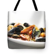Italian Traditional Seafood Stew  Tote Bag