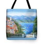 Italian Village By The Sea Tote Bag